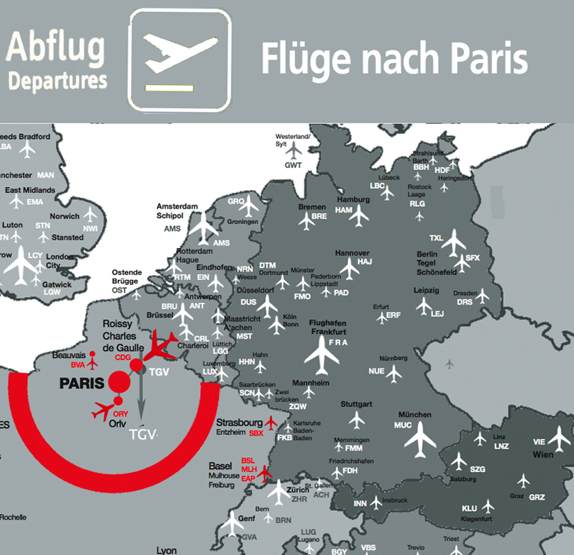 FLUG NACH PARIS