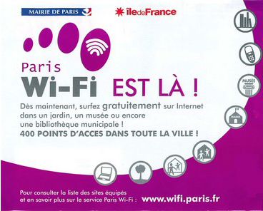 Gratis! Internetzugang Ÿber WLAN Wi-Fi in Paris!