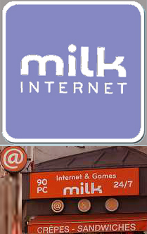 Internetcafe Paris Milk