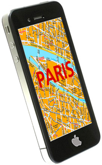 iPhone Navi Map Stadtplan ReisebŸhrer Paris
