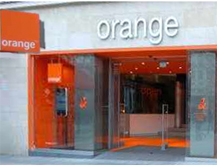 Orange France Telecom Flagship Store Paris Champs Elysees. Prepaid UMTS SIM Karten